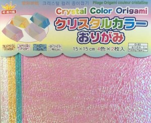 Papel P/ Origami 15x15cm Face Única D-83 34 Crystal Color Origami (8fls)