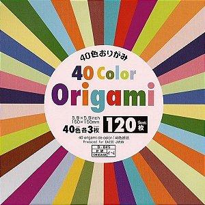 Papel de Origami Lisa Face única 40 Cores (120fls) D-045 K0-12-p10