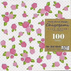 Papel de Origami 15x15cm Estampado Face única Small Flower Design KO-13-P10 (100fls)