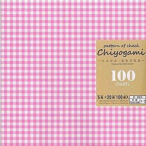 Papel de Origami 15x15cm Estampada Face Única Chiyogami (100fls) Pattern Check