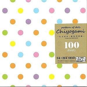 Papel de Origami 15x15cm Chiyogami Pattern Of Dots (100fls) D-45 I-3