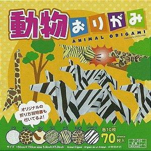 Papel P/ Origami 15x15cm Estampado Face única Animal Origami D-045-o-05