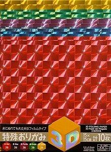 Papel Plástico P/ Origami 15x15 3d - Ka-2 - Daiso