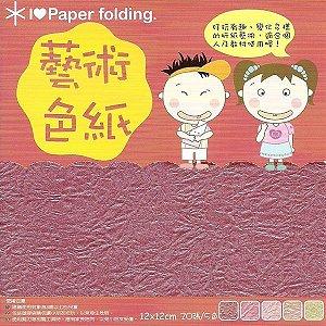 Papel p/ Origami 12x12cm Dupla Face EPP004 (20fls)