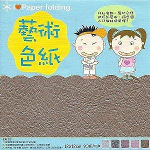 Folha para Origami 12x12cm Dupla Face EPP006 (20fls)