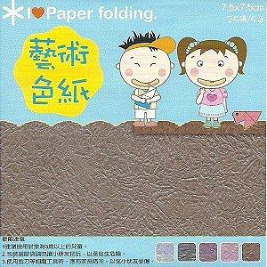 Papel P/ Origami 7,5x7,5cm Dupla Face EPP012 (25fls)