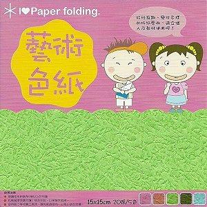 Papel P/ Origami 15x15cm Dupla-Face EP001 (20fls)