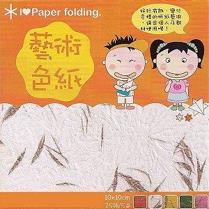 Papel P/ Origami 10x10cm Dupla-Face EPN003 (20fls)