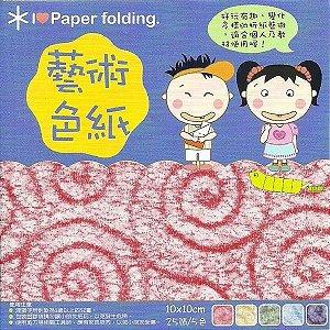 Papel P/ Origami 10x10cm Dupla Face CNR003 (20fls)