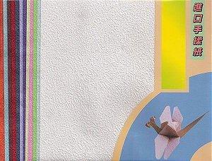 Papel P/ Origami 15x15cm Lisa Dupla Face 12 Cores (12fls) 3830802-25