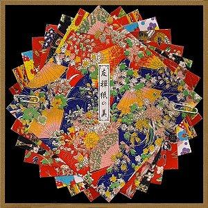 Papel P/ Origami 15x15cm Estampado Face única 'Yuzen Kami No Bi' (8fls)