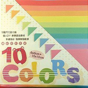 Papel P/ Origami 10 Tamanhos Tons Pastéis GT4003 (100fls)
