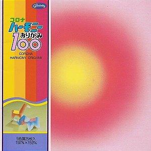 Papel P/ Origami 15x15cm Estampado Face única 23-1004-100 Corona Harmony (25fls)