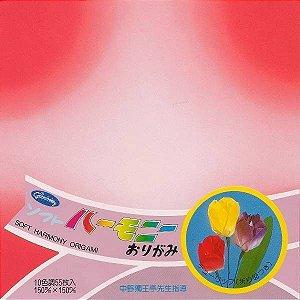 Papel P/ Origami 15x15cm Estampada Face Única 23-1103-200 Soft Harmony (55fls)