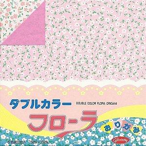 Papel P/ Origami 15x15cm 23-1851-200 Double Color Flora (32fls)