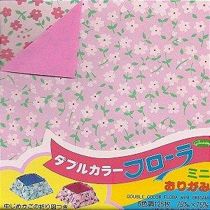 Papel P/ Origami 7,5x7,5cm 20-1858 Double Color Flora Mini (125fls)