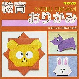 Papel P/ Origami 15x15cm Face única 27 Cores 000007 (65fls)