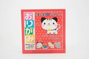 Papel P/ Origami 7.5x7.5cm Shimashima Nyanko (300fls)