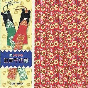 Papel P/ Origami 15x15cm Estampado Face única Edo Ningyo (55fls)