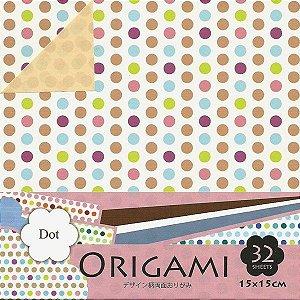Papel P/ Origami 15x15cm Dupla-face Dot DGO15-32D (32fls)