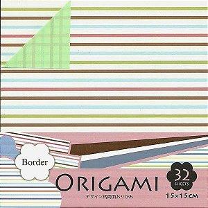Papel P/ Origami 15x15cm Dupla-face Border DGO15-32B (32fls.)