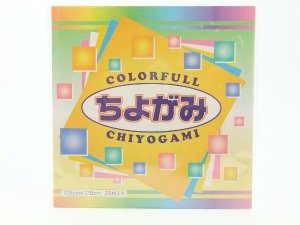 Papel P/ Origami 17,8x17,8cm SUN-520 Colorful Chiyogami (25fls)