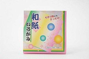 Papel P/ Origami 7,5x7,5cm Lisa Dupla-Face Sun-531 (72fls)