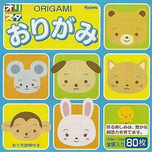 Papel P/ Origami 15x15cm Face única 16 Cores S-205 (80fls)