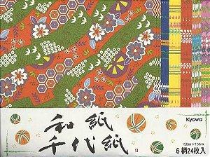Papel P/ Origami Washi 15x15 - Kyowa (24fls)