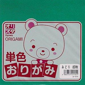 Papel P/ Origami Verde O-610 - Kyowa (80fls)
