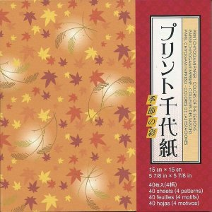 Papel P/ Origami 15x15cm Estampado Face única Print Origami - Colors Of The Seasons AYC200 (40fls)