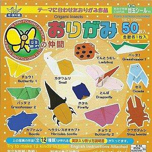 Papel P/ Origami 15x15cm Face única 31 Cores Insetos D-083 (50fls)