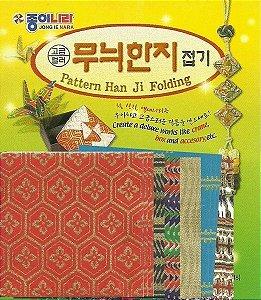 Papel P/ Origami 5,5x5,5cm Estampada Face única Han Ji FK11K1