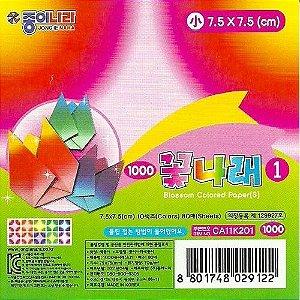 Papel de Origami 7,5x7,5cm Estampada Face única CA11K201 (80fls)