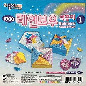 Papel para Dobradura 15x15cm AEP00035/AM11K2 Rainbow 1 (11fls)
