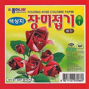 Papel Origami 12x12cm Rosas DS18K201 (35fls)