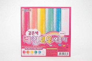 Papel P/ Origami 15x15cm Laranja AC31K1-02 Rainbow (8fls)