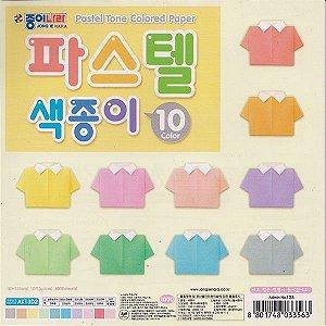 Papel P/ Origami 15x15cm Lisa Face Única AK13D2 Pastel Tone Colored Paper (30fls)