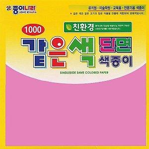Papel P/ Origami 15x15cm AC11D6-23 Rosa Escuro Liso Face única (40fls)