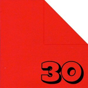 Papel P/ Origami 15x15cm Liso Dupla Face Vermelho AAE00041-50 (30fls)