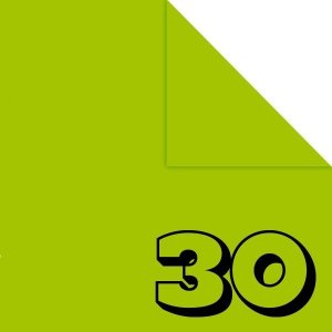 Papel P/ Origami 15x15cm Liso Dupla Face Verde Claro AC11Y4-4 (30fls)