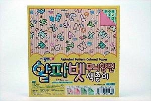 Papel P/ Origami 15x15cm Alphabet Pattern (CM31K1) (20fls)