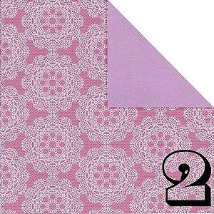 Papel Origami 15x15cm Dupla-face Lace Pattern AEH000157 (CR10K101) (20fls)