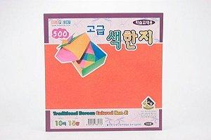 Papel P/ Origami 15x15cm Traditional Korean Colored Han Ji (15fls)