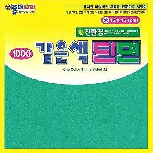 Papel P/ Origami 15x15cm AC11D6-07 Verde Musgo Liso Face única (40fls)