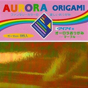 Papel para Dobradura 15x15 Aurora (8 fls) Ehimeshiko