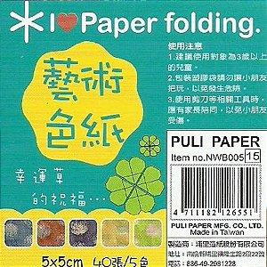 Papel P/ Origami 5x5cm NWB005 (40fls)