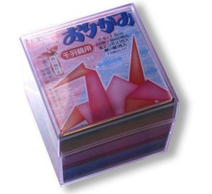 Papel p/ Origami 7,5x7,5cm Liso Face única Senbazuru Toyo (1002fls)