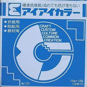 Papel P/ Origami 15x15cm Azul Escuro No. 120 - 11 (100fls)