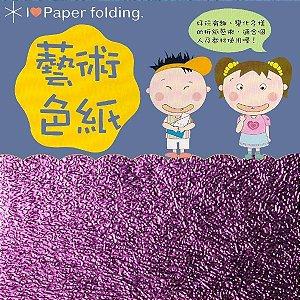 Papel P/ Origami 15x15cm EC 35 Puli Paper Lilás (10fls) - 8335